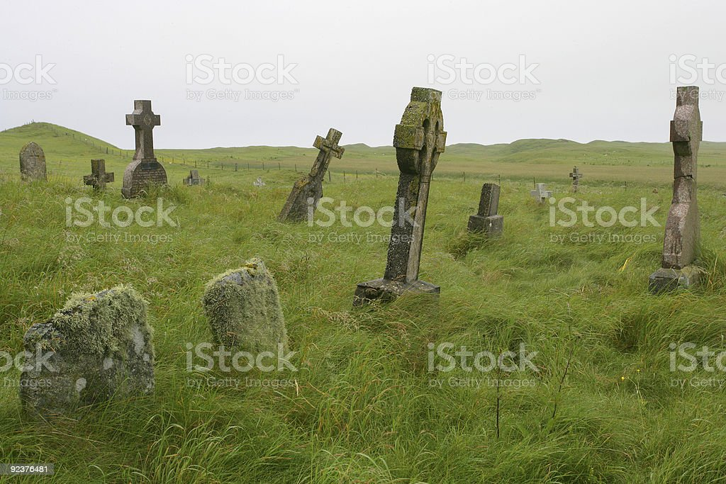 Scottish graveyard royalty-free stock photo