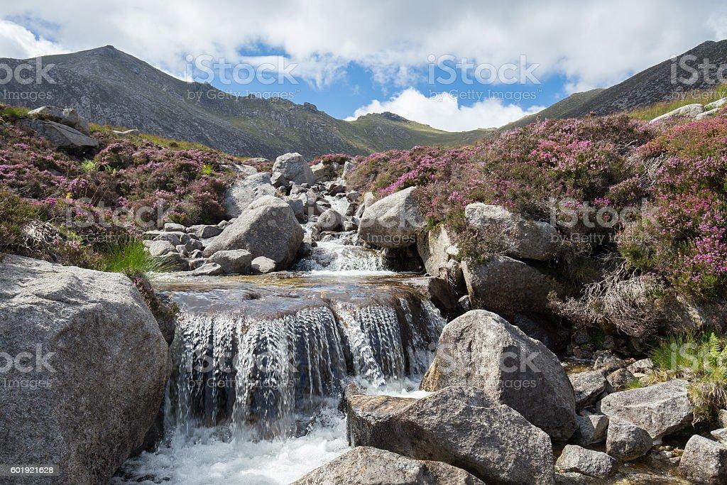 Scottish Highland landscape, Isle of Arran, Scotland Lizenzfreies stock-foto