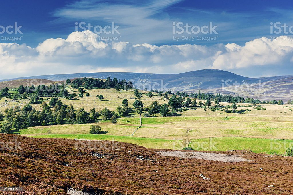 Scottish Highland moor landscape stock photo