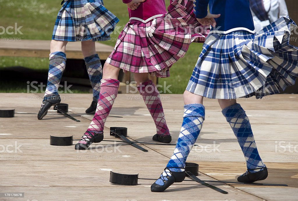 Scottish Highland Sword Dancing royalty-free stock photo