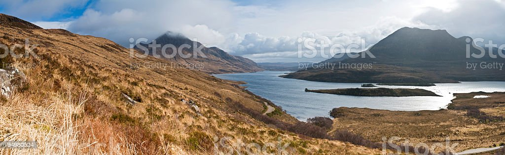 Scottish highlands and islands royalty-free stock photo
