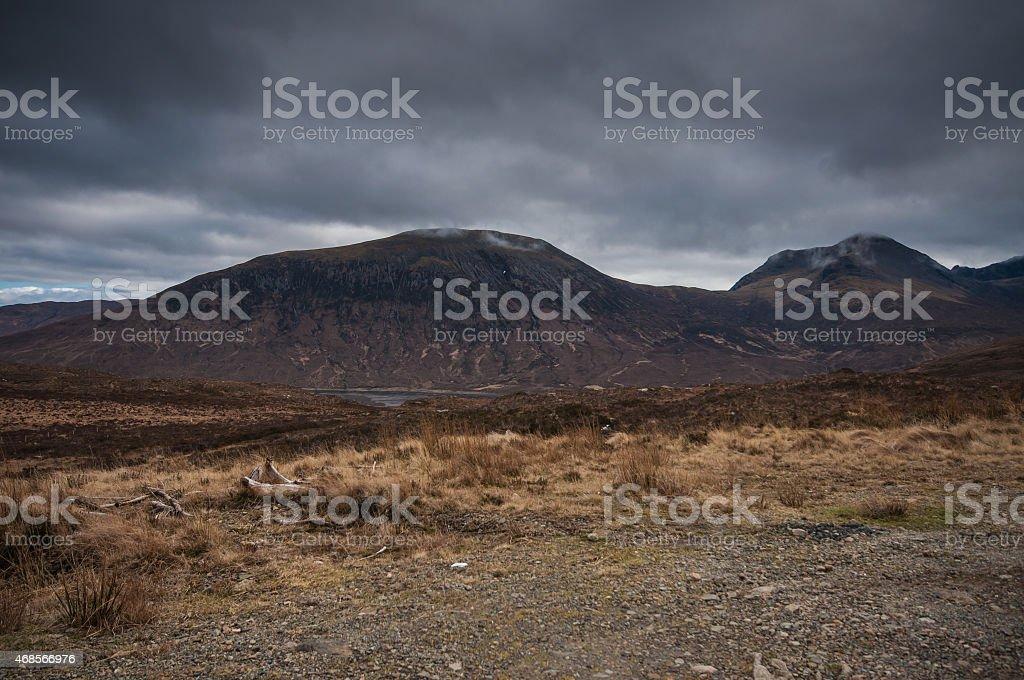 Scottish Highlands landscape stock photo