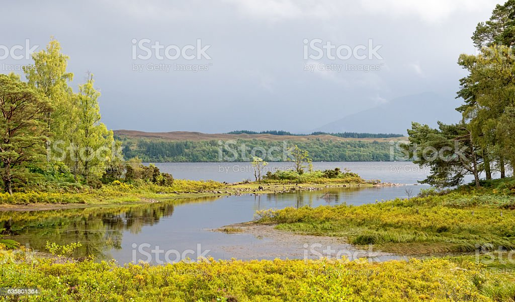 Scottish highlands near Spean Bridge, Scotland stock photo