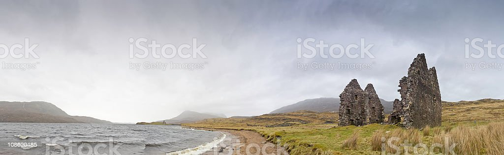 XXXL Scottish Highlands, old ruins royalty-free stock photo