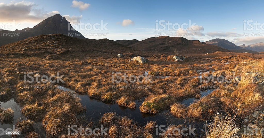 XXXL Scottish highlands stock photo