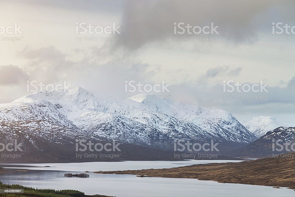 Scottish Highlands, Winter Scene stock photo