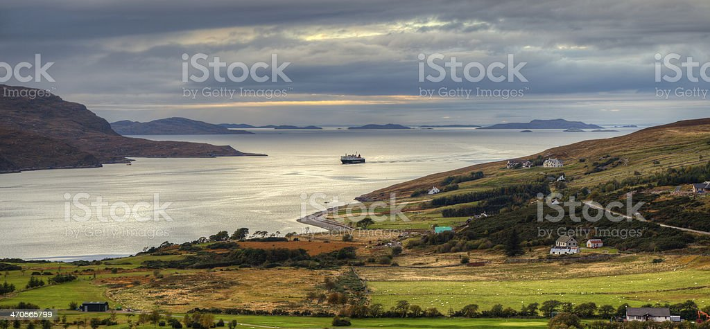 Scottish Holidays (Ullapool) stock photo