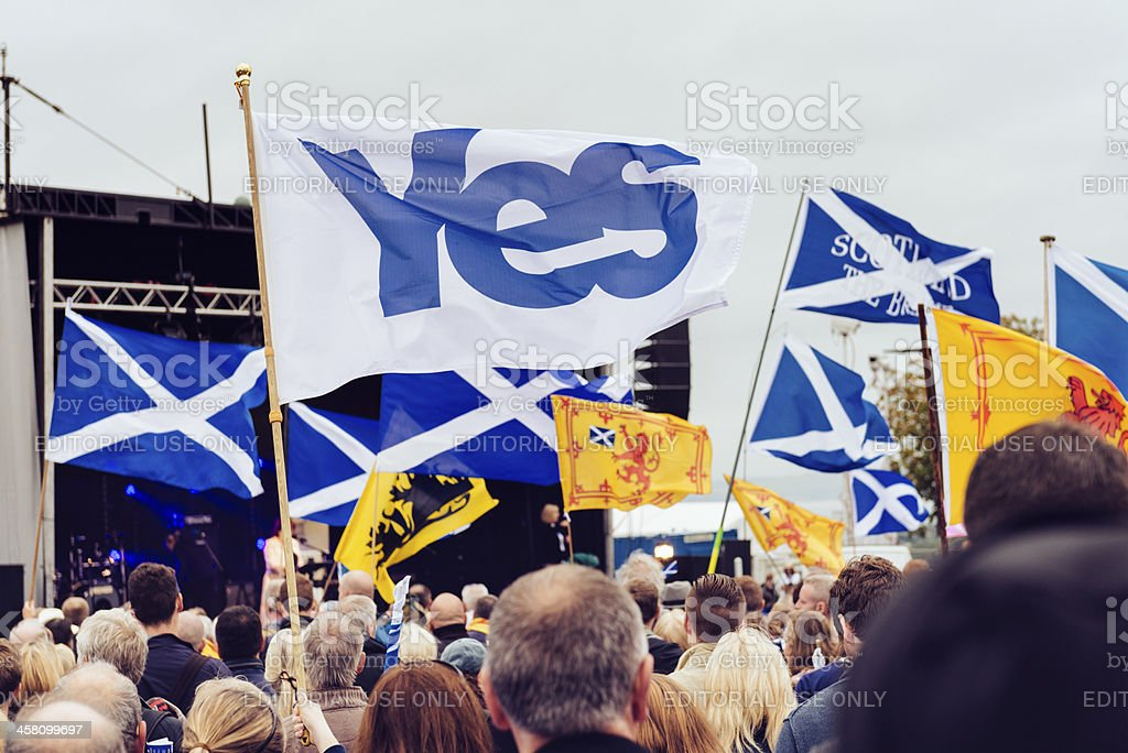 Scottish Independance Rally in Edinburgh stock photo
