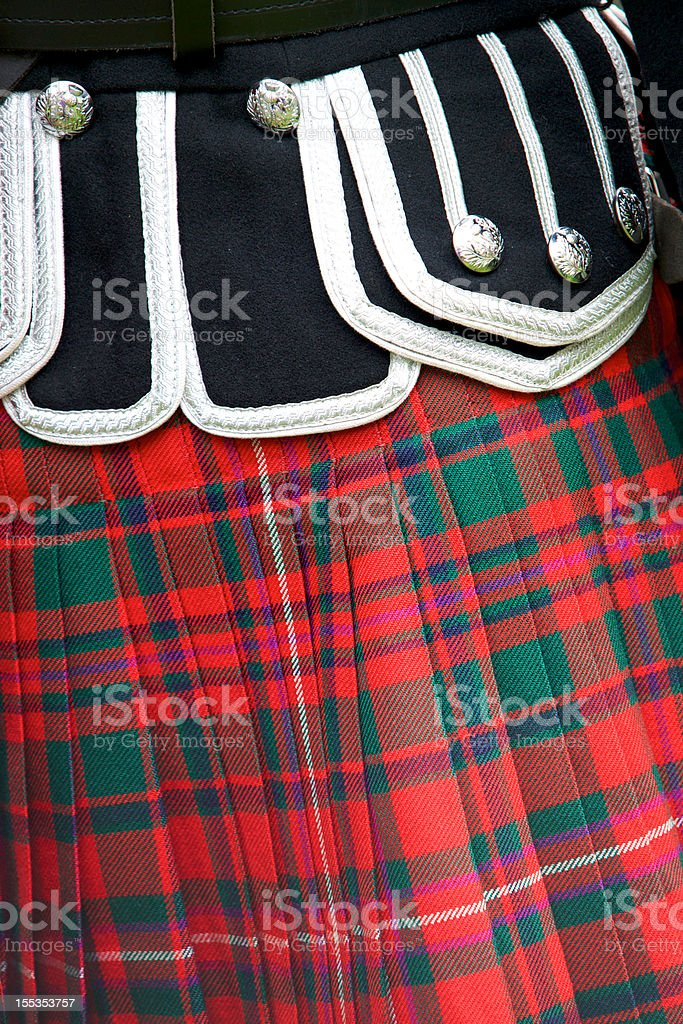 Scottish kilt royalty-free stock photo