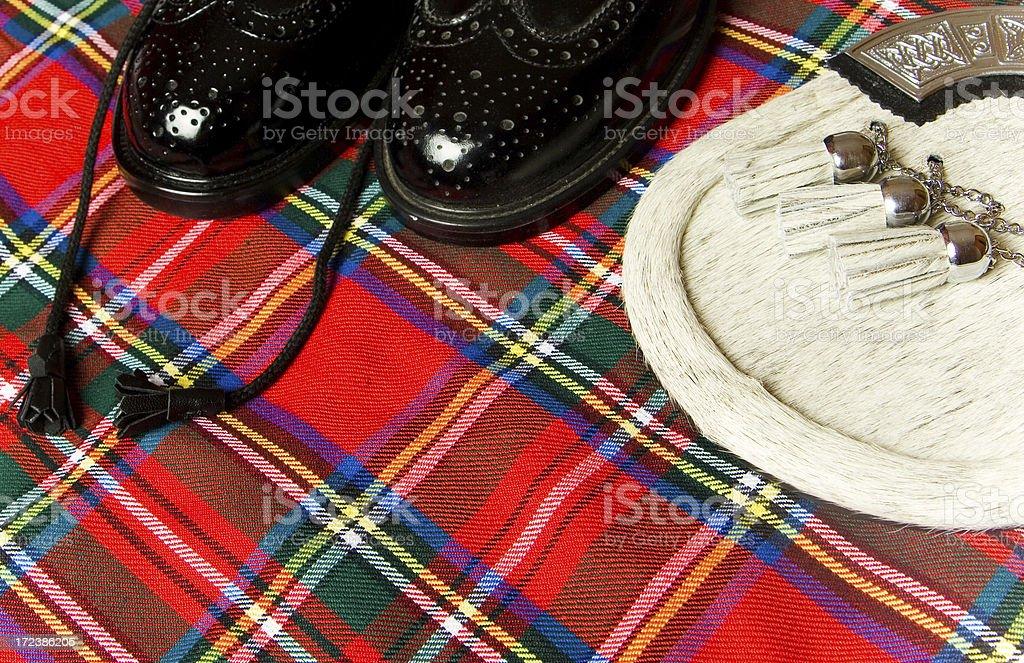 Scottish kilt stock photo