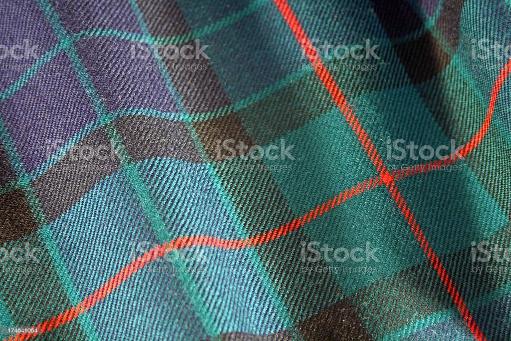 Scottish Kilt Tartan royalty-free stock photo