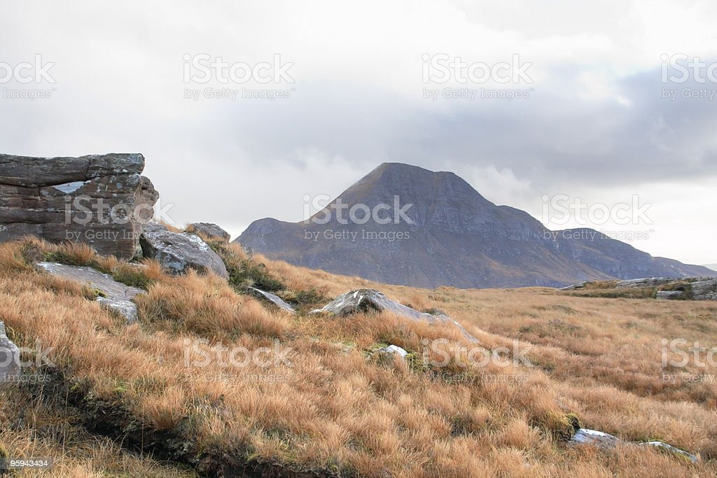 scottish landscape near Stac Pollaidh royalty-free stock photo