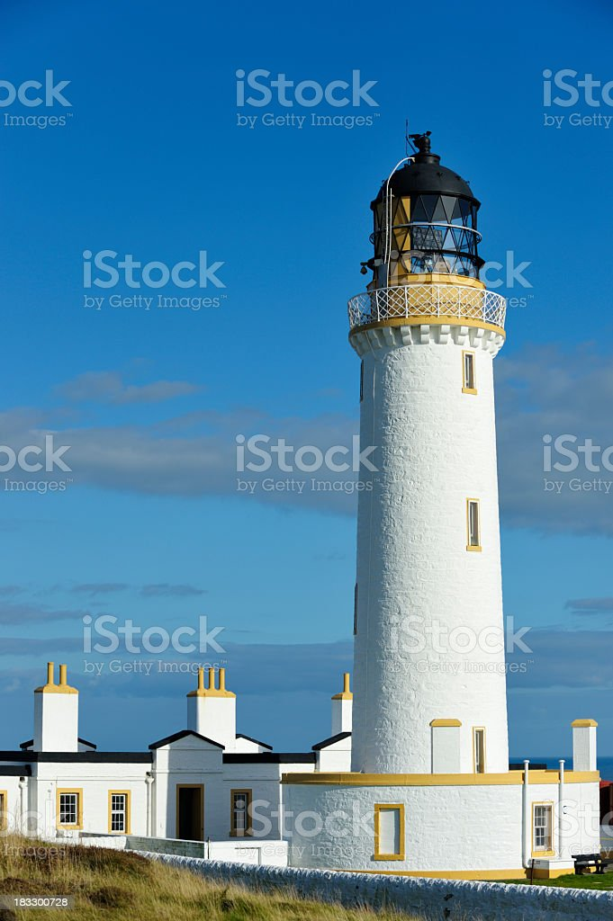 Scottish lighthouse in Dumfries and Galloway stock photo