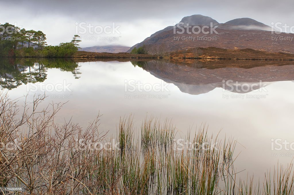 Scottish Loch in the early morning stock photo