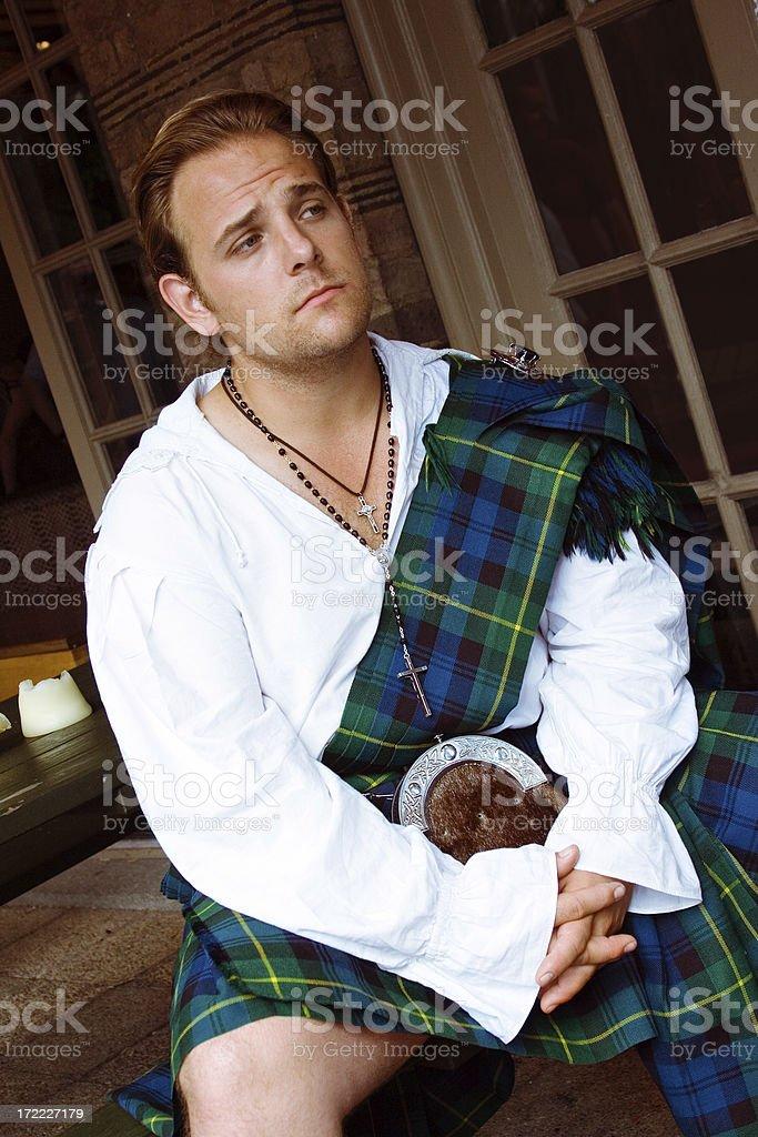 Scottish man stock photo