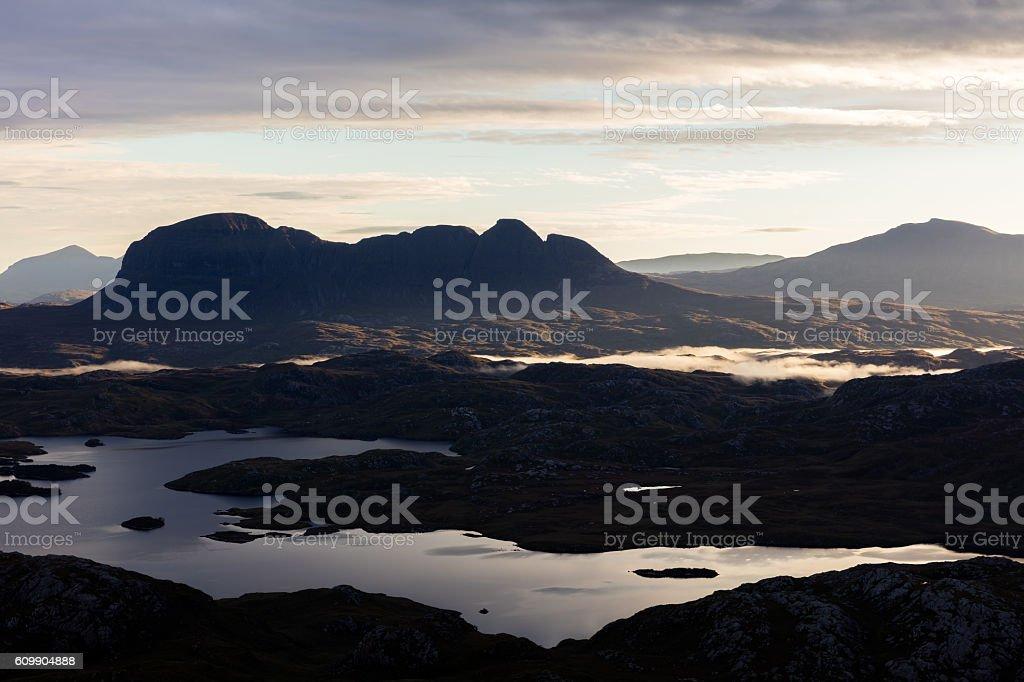 Scottish Mountain Scene Northwest Highlands stock photo