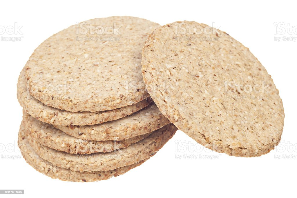 Scottish oatcakes royalty-free stock photo