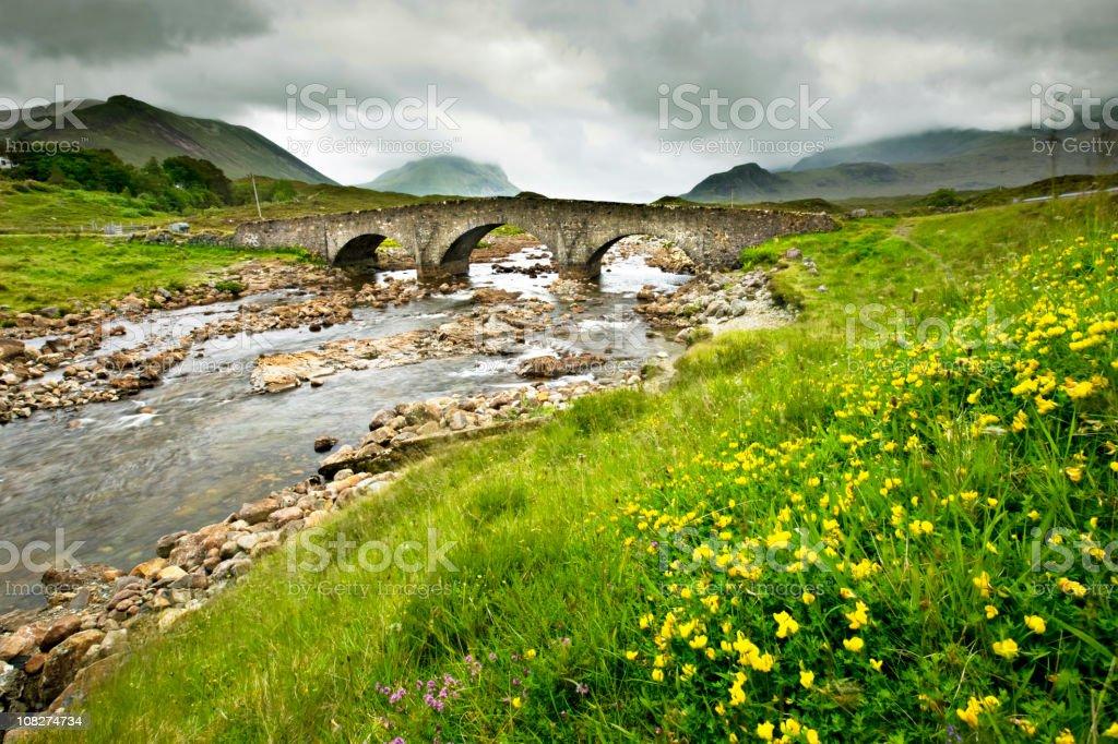 Scottish old bridge stock photo