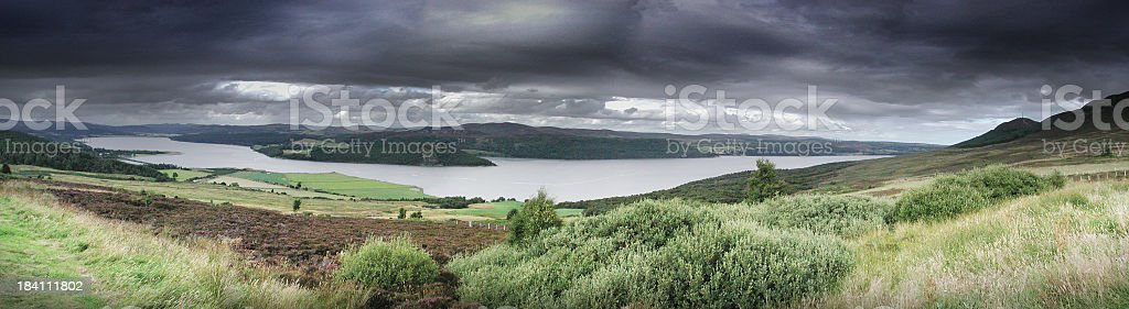 Scottish Panorama royalty-free stock photo