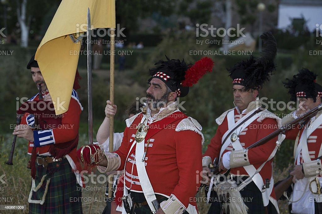 Scottish parade royalty-free stock photo