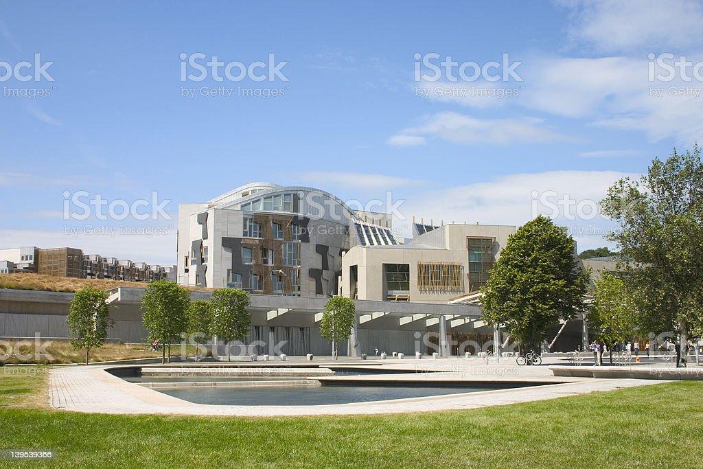 Scottish Parliament 2 stock photo