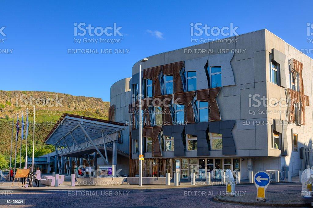 Scottish Parliament Building, Edinburgh, United Kingdom. stock photo
