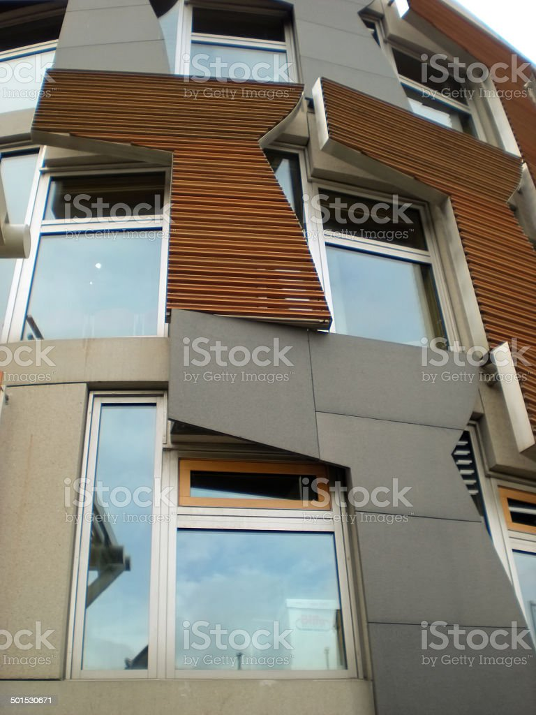 Scottish Parliament Contemporary Architecture stock photo