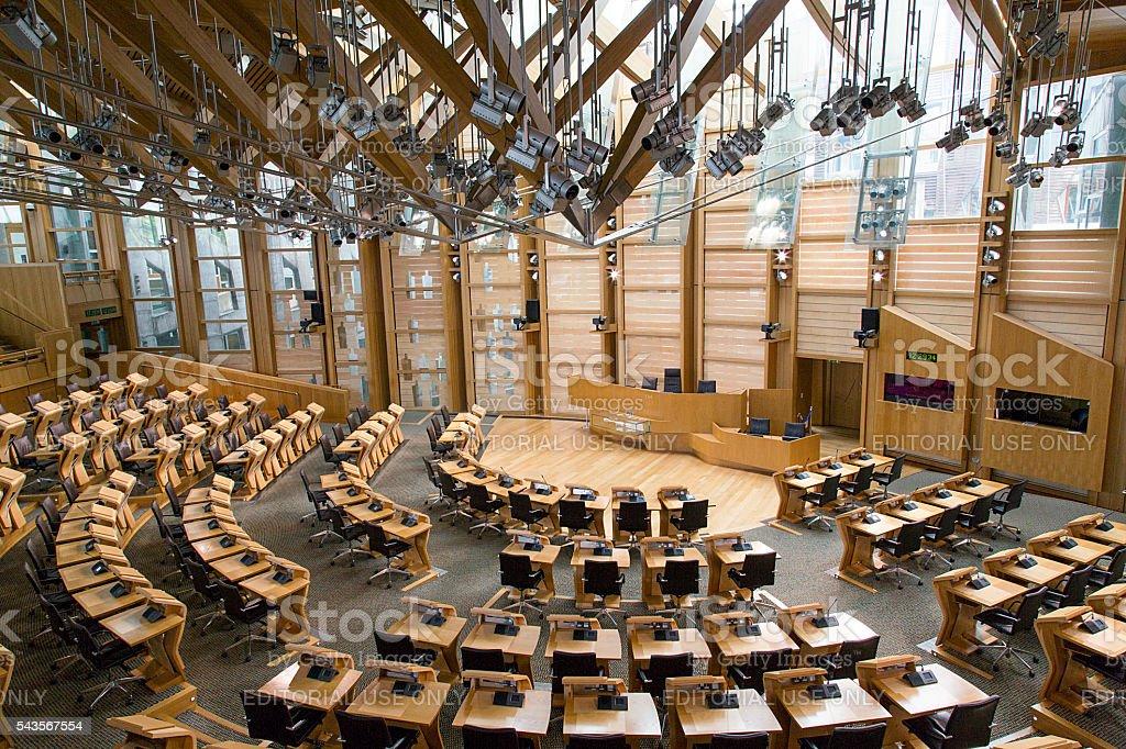 Scottish Parliament - Edinburgh stock photo