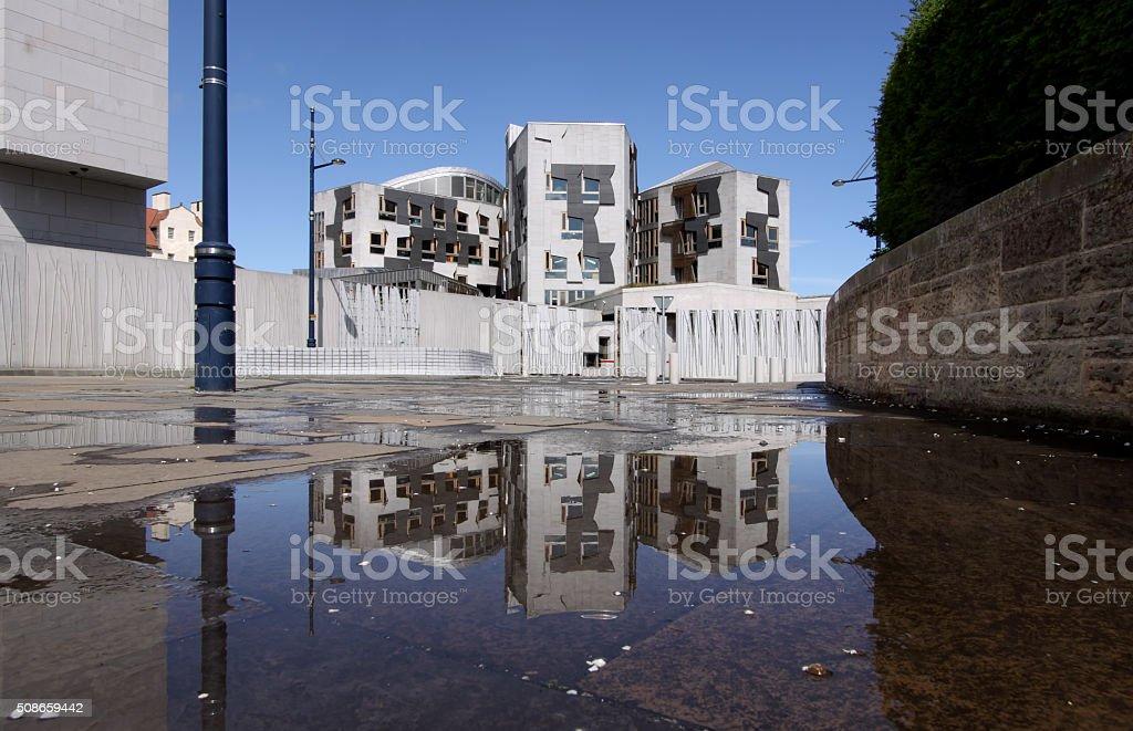 Scottish Parliament, Holyrood, Edinburgh, Scotland stock photo