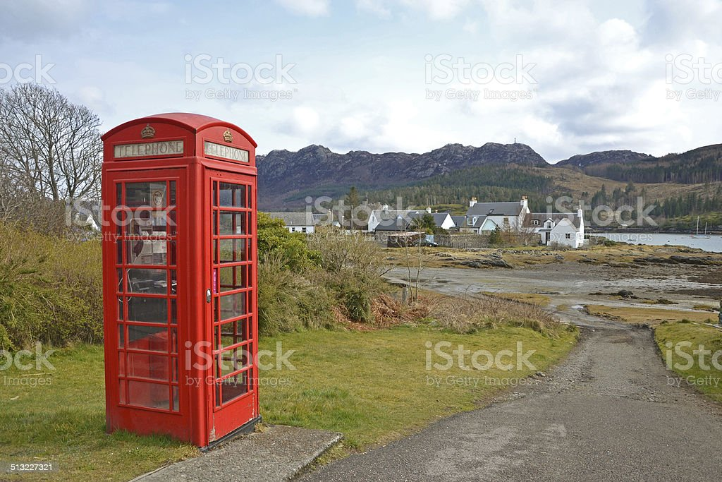 Scottish Phonebox stock photo