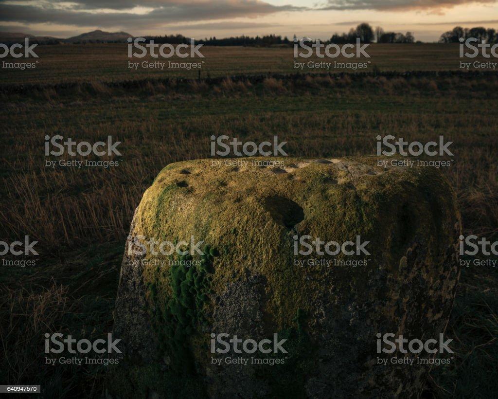 Scottish Prehistoric Standing Stones stock photo