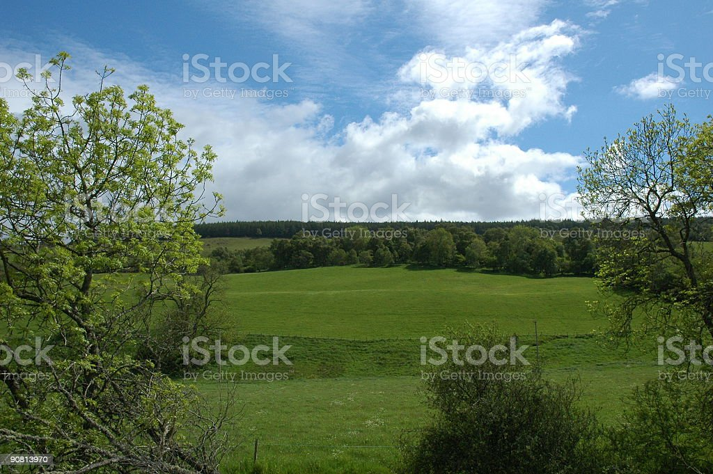 Scottish scenery with clear sky stock photo