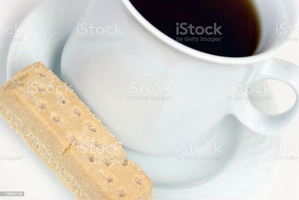 Scottish Shortbread and Tea royalty-free stock photo