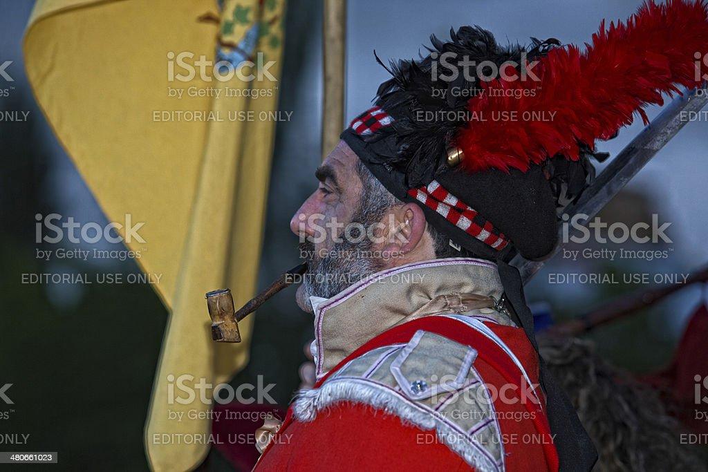 Scottish smoker royalty-free stock photo