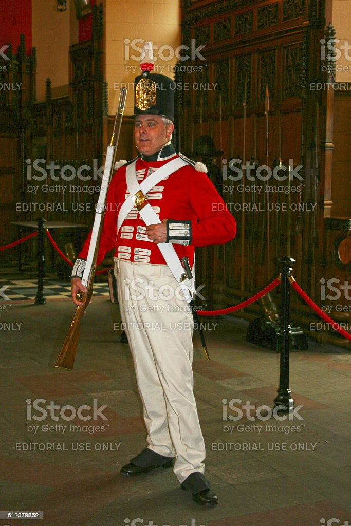 Scottish soldier during the Napoleonic Wars stock photo