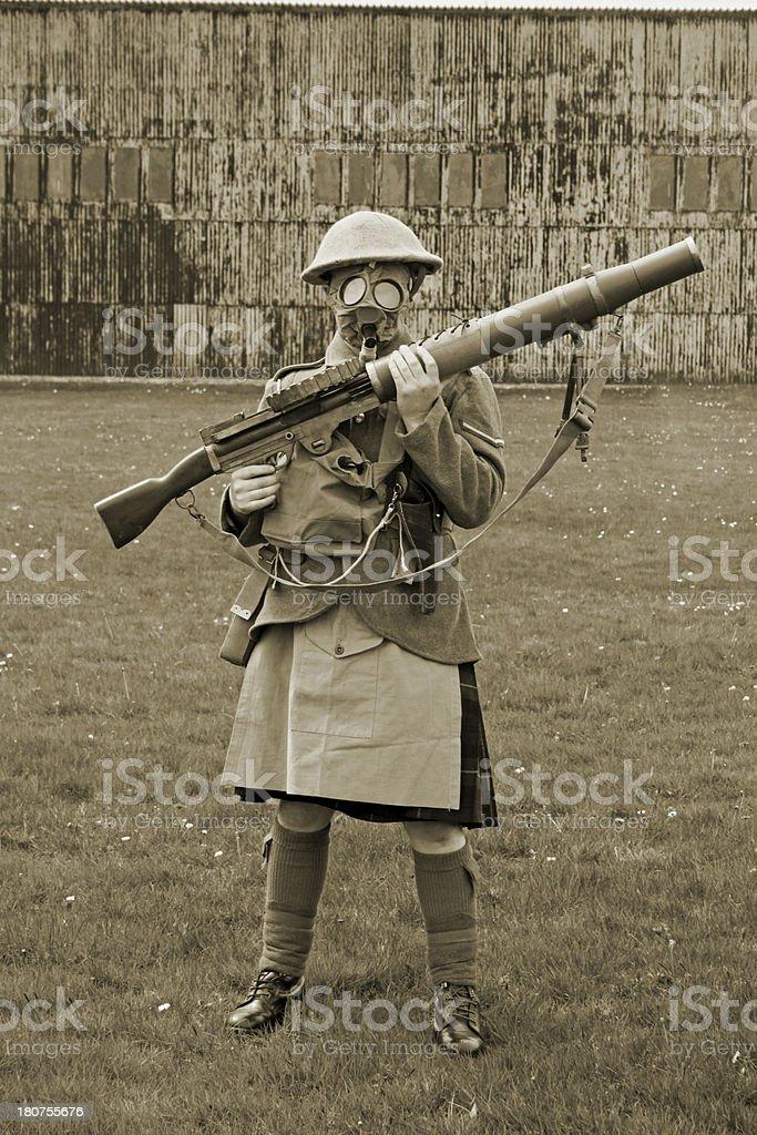 WW1 Scottish soldier. royalty-free stock photo