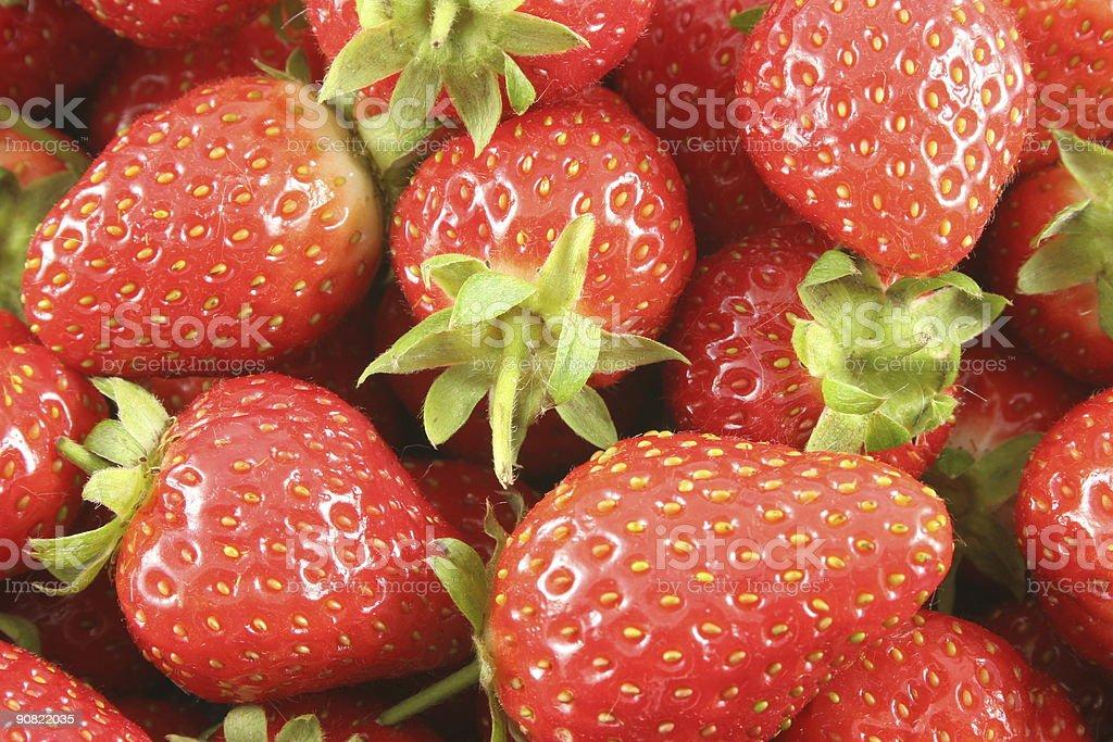 Scottish Strawberries stock photo