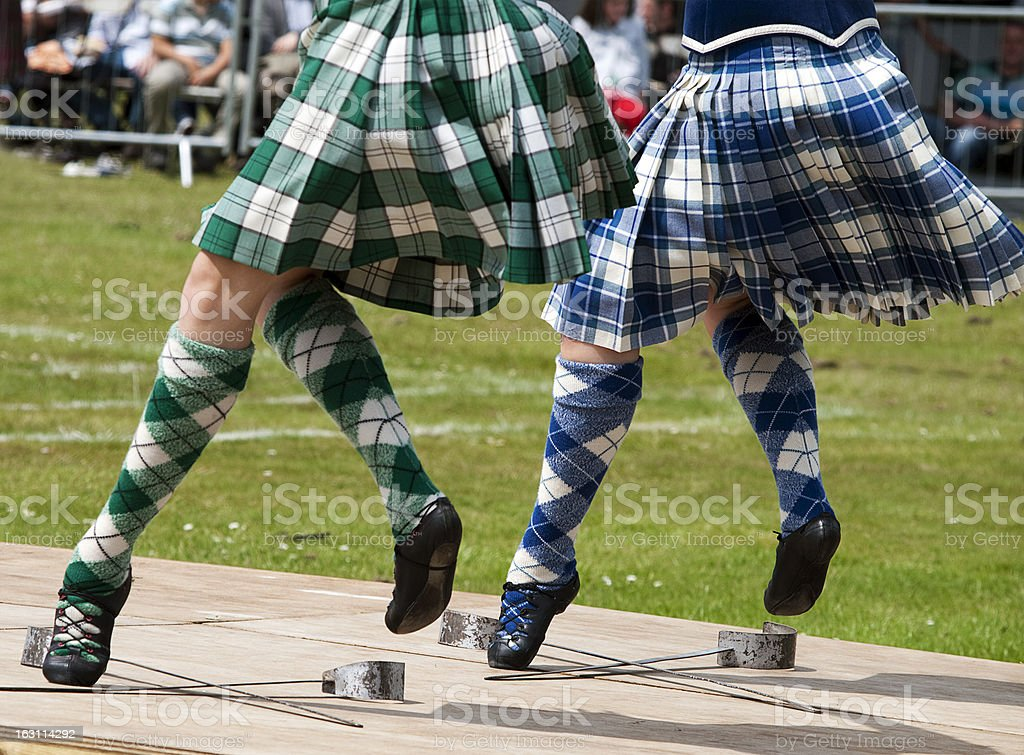Scottish Sword Dancing royalty-free stock photo