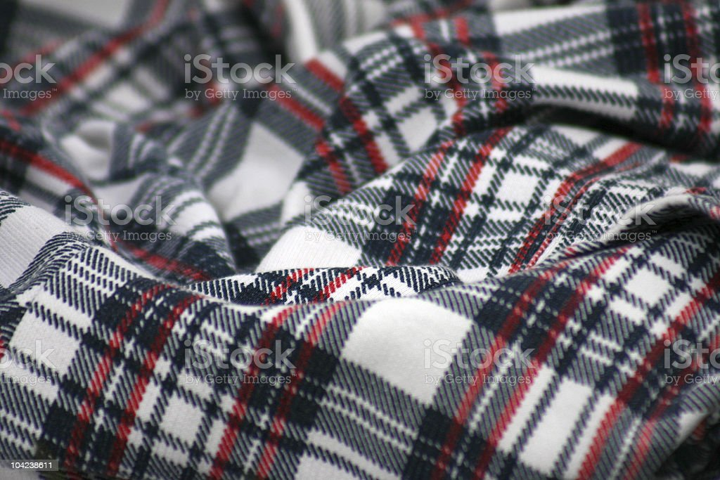 Scottish Tartan Fabric royalty-free stock photo