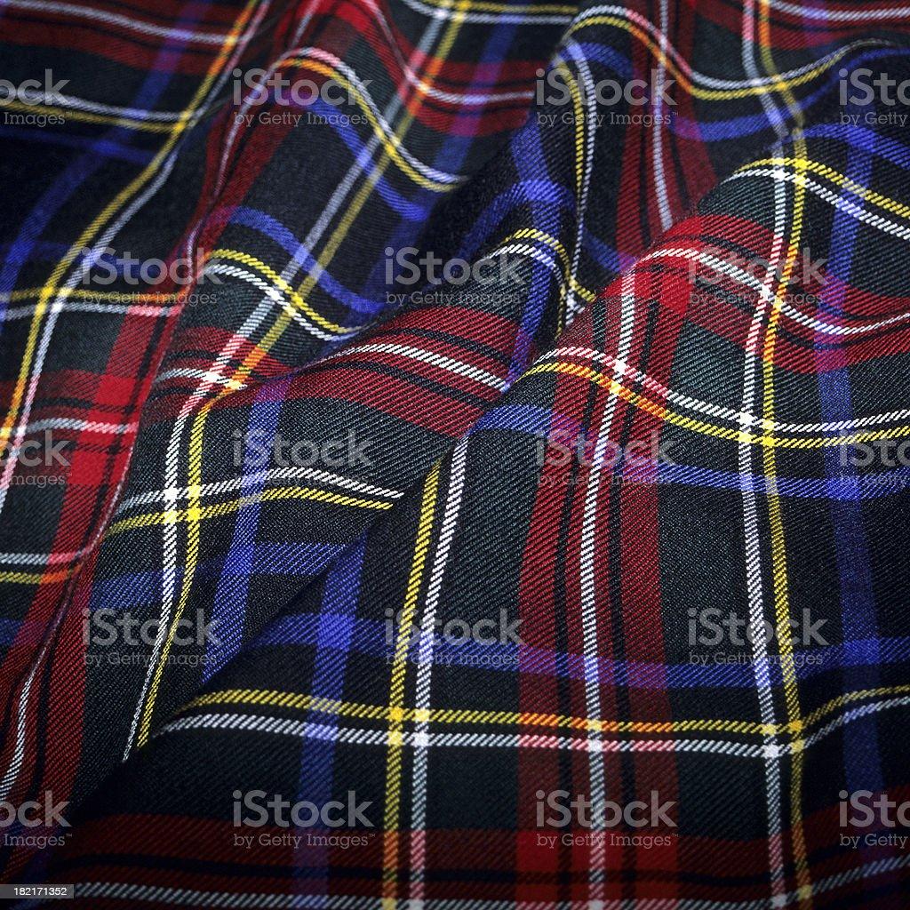 Scottish Tartan Fabric royalty-free stock photo