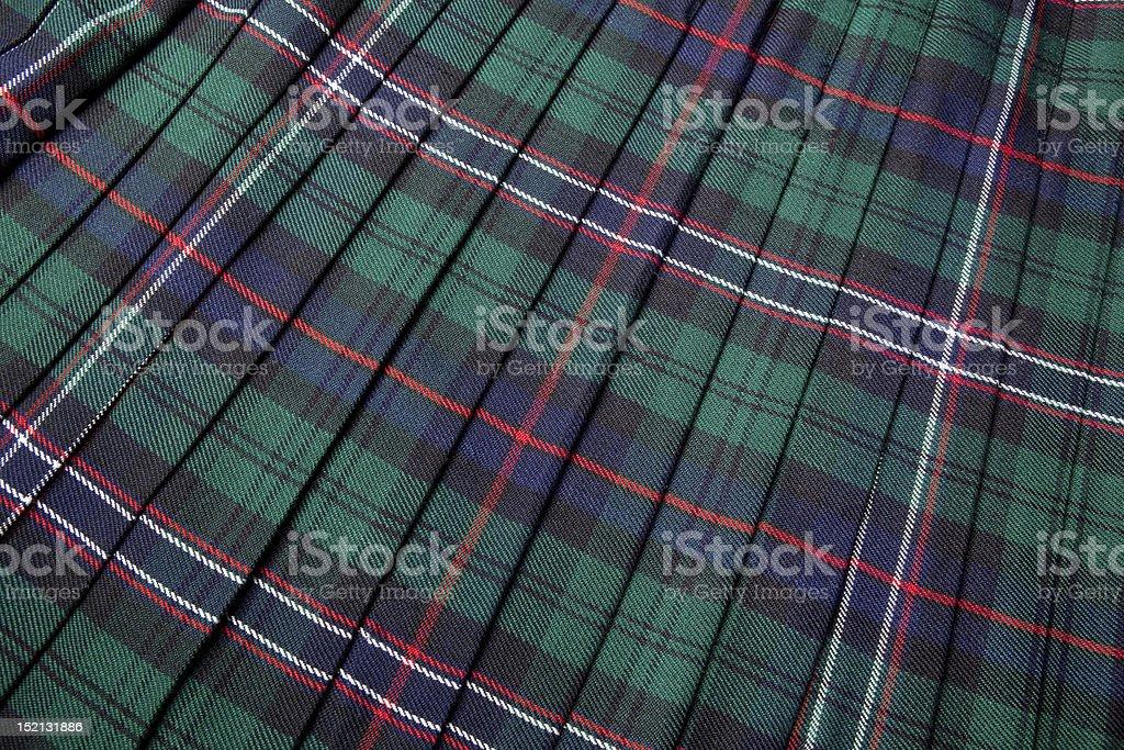 Scottish tartan stock photo