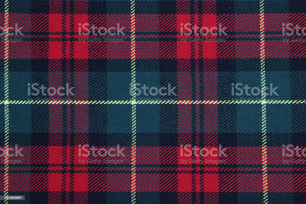 Scottish Tarten stock photo