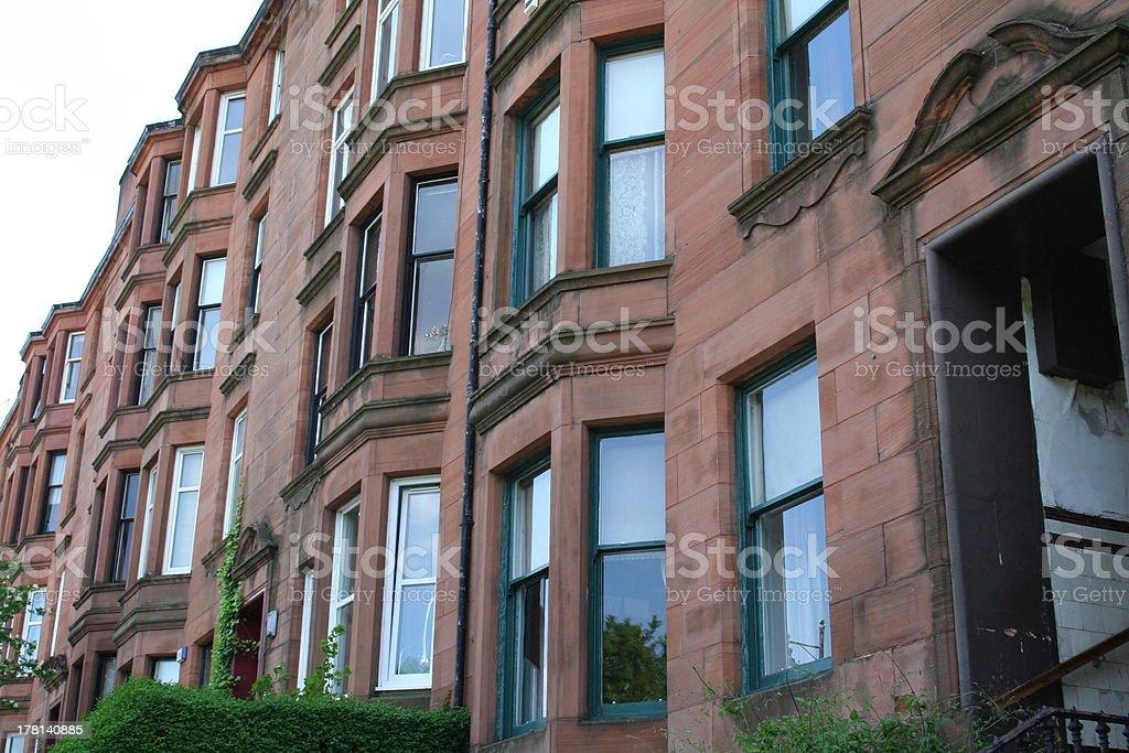 Scottish Tenements stock photo
