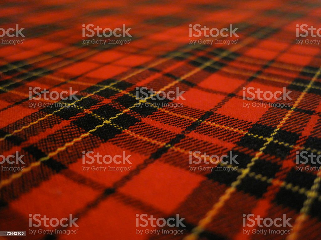Scottish Textile Pattern stock photo