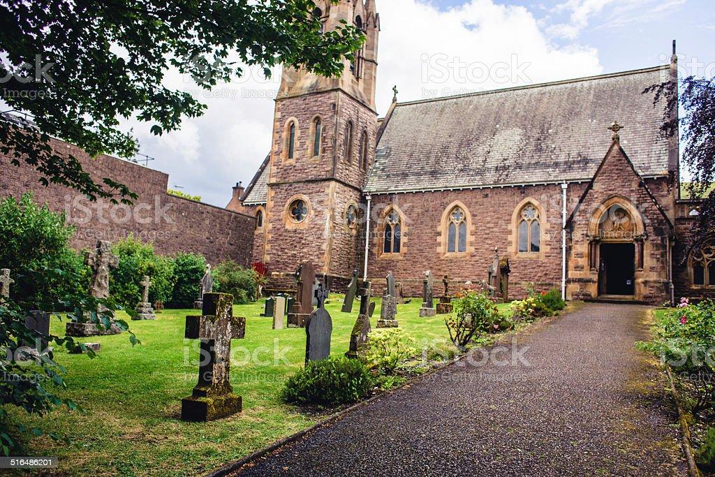 Scottish Village Church stock photo