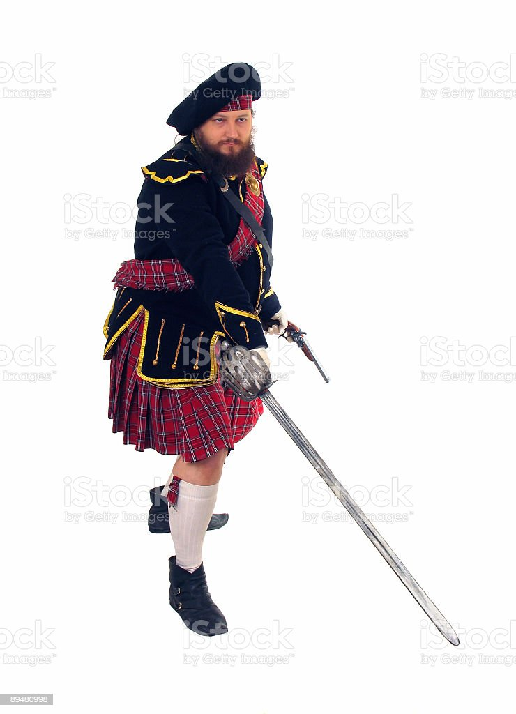 Scottish warrior stock photo