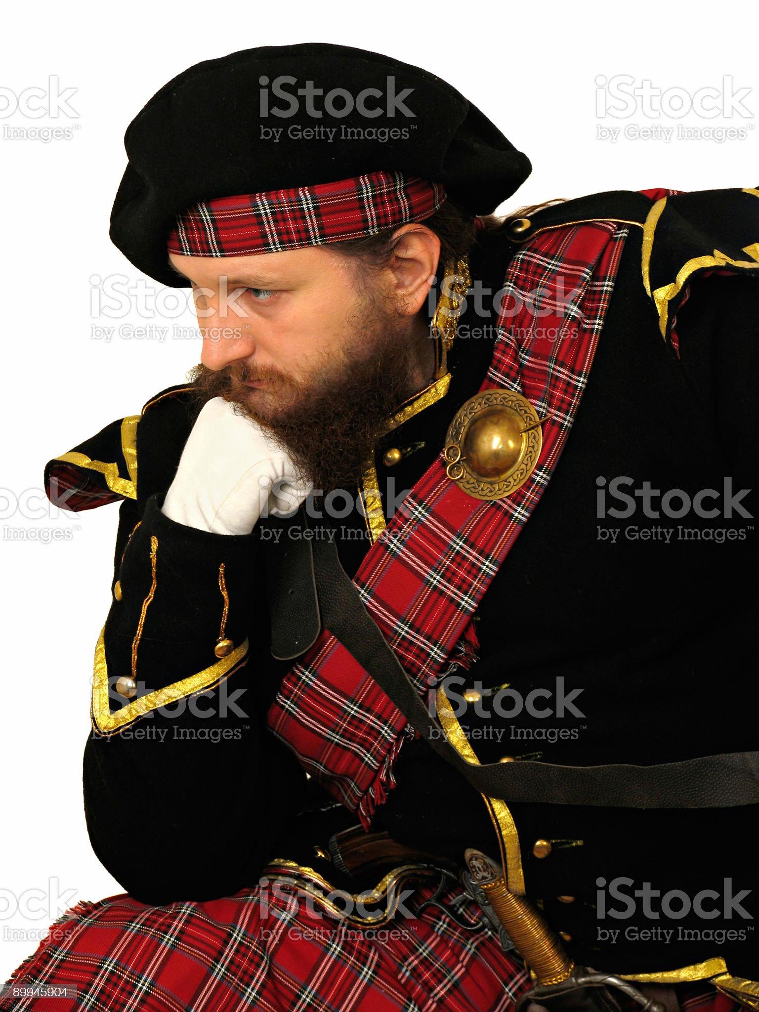 Scottish warrior royalty-free stock photo