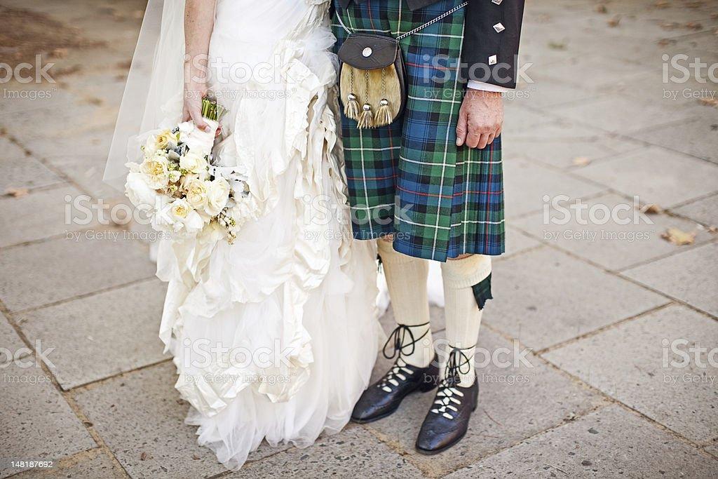 Scottish Wedding stock photo