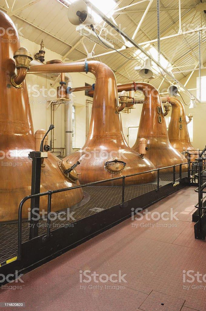 Scottish whisky distillery stock photo