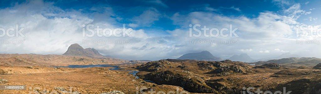 Scottish wild Highlands Suilven stock photo
